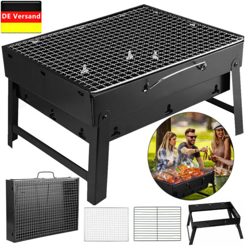 Faltbar Holzkohlegrill Klappgrill Tischgrill Outdoor Camping Barbecue BBQ Grill