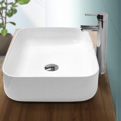 Lavabo cerámica moderno cuadrado pila fregadero común de baño blanco 505x395 mm