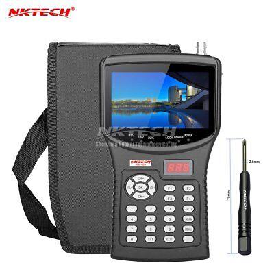 Nktech Hd Digital Satellite Tv Signal Finder Meter Nk-620 Cctv Camera Tester