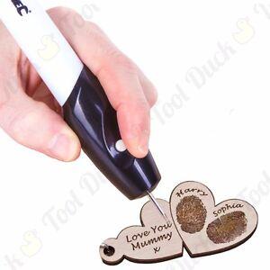 BATTERY POWERED ENGRAVER Glass Ceramic Metal Wood Hand Held Crafting Tool 185mm