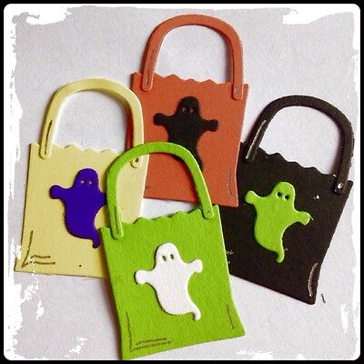 Trick Or Treat Bags Totes For Halloween Samhain Wiccan Pagan Party Die Cuts - Trick Or Treat Bag Craft For Halloween