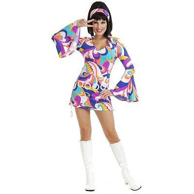Disco Hottie Adult Sexy Gogo Girl 1960's Go 1970's Hippie Halloween Costume