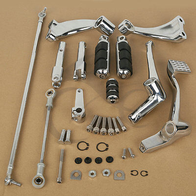 Forward Control Pegs Levers Linkages For Harley Sportster 1200 883 XL Iron 04-13