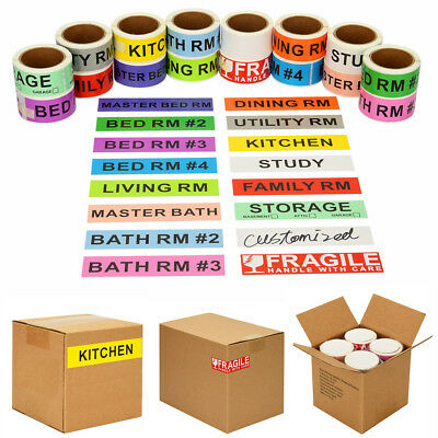 960pcs Home Moving Color Coded Stickers Supplies Boxes Packing w/ 60 Blank - Color Boxes