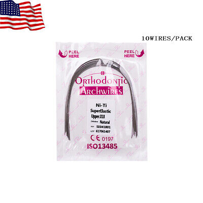 Easyinsmile 10pc Orthodontic Super Elastic Niti Arch Wires Dental Braces Wires