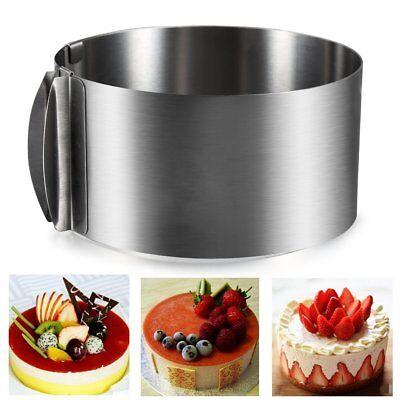 Ø16-30cm Tortenring Verstellbar Edelstahl Backrahmen Kuchenring Kuchen Backform