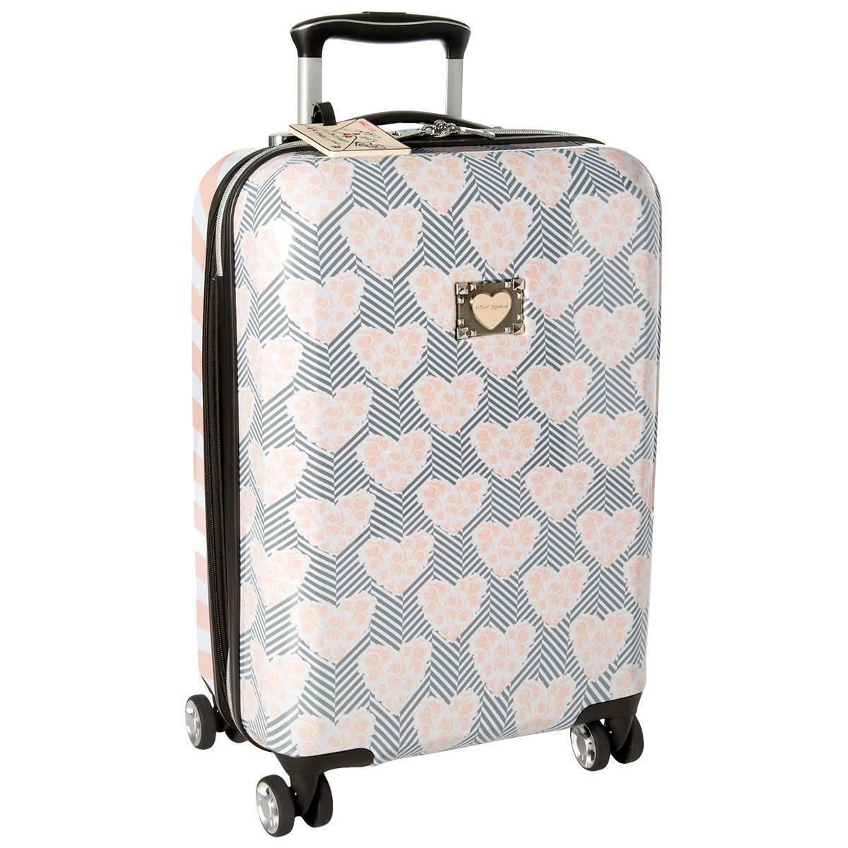 rare luggage hardside 30 chevron hearts expandable