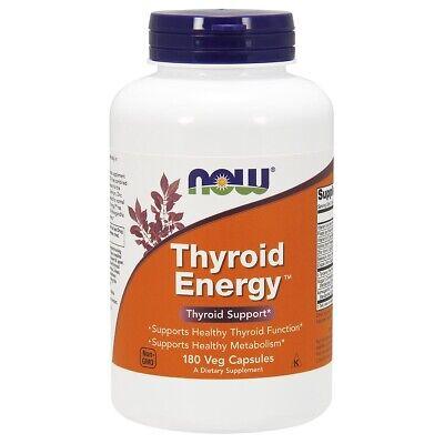 NOW Thyroid Energy 180 Veg Caps, Thyroid Support, Metabolism Support, FRESH