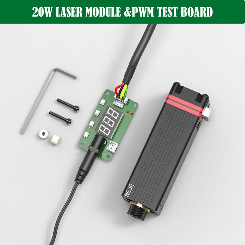 20W 450nm laser module head KITS for laser engraving machine w/ PWM test board