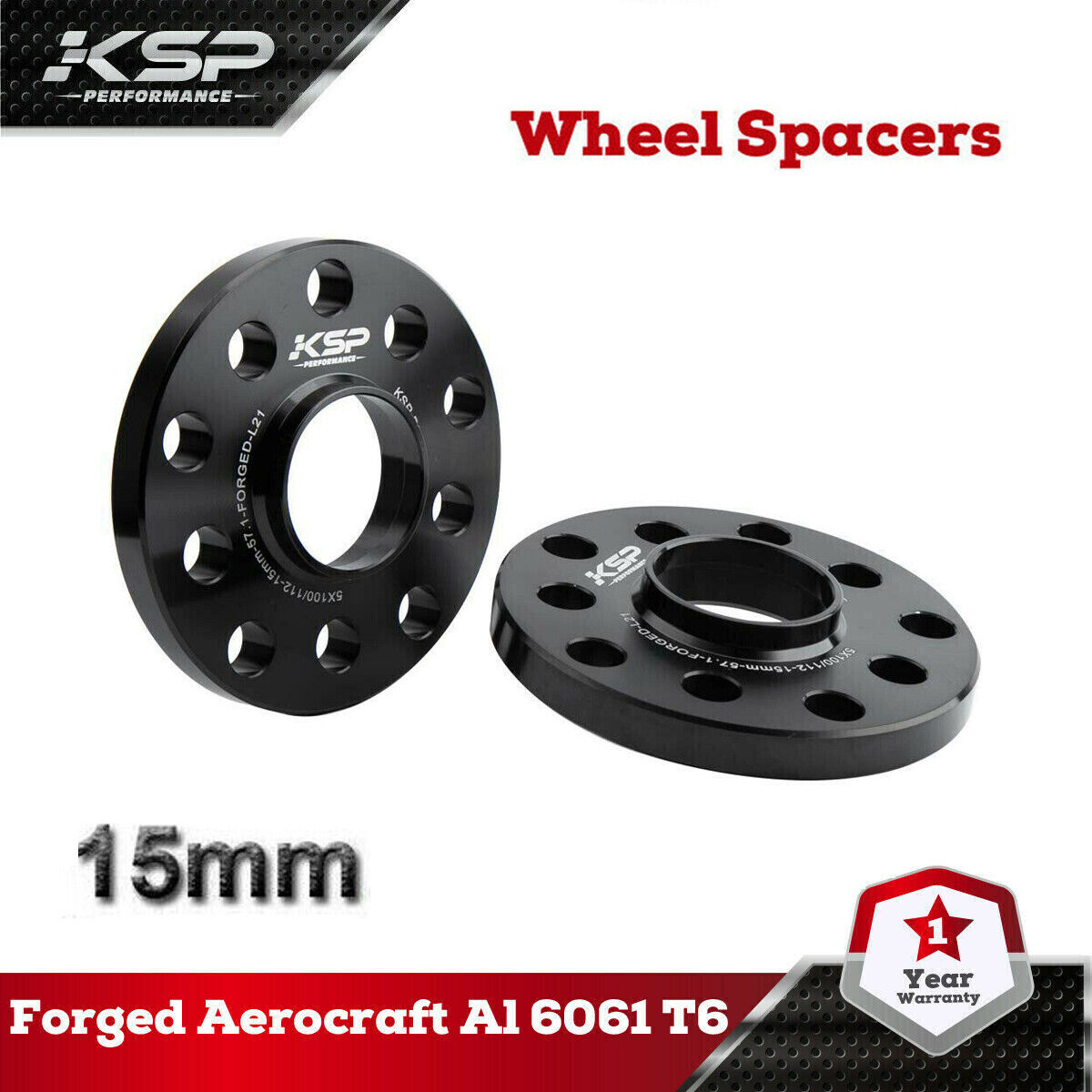 25mm Hubcentric Wheel Spacers Wheel Centric 57.1mm Hub FORGED for VW Audi 2