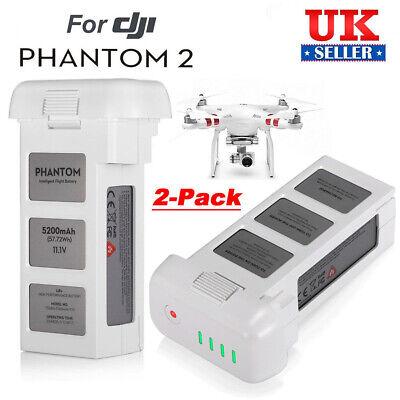 2 x Battery For DJI Phantom 2 Vision+ Plus Drone Quadcopter Flight 5200mAh 11.1V
