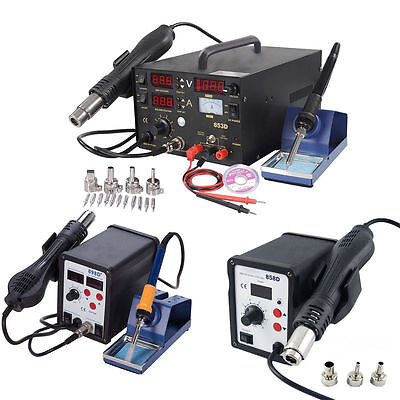 853D 858D 898D Soldering Rework  Soldering Station Solder Iron Smd Hot Air Gun
