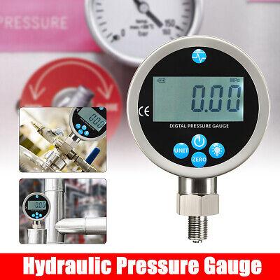 400bar Digital Display Oil Hydraulic Pressure Gauge Test Meter 80mm 0-40mpa G14