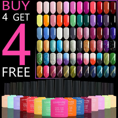 Soak off Color Gel Nail Polish 110 Colours Base Top Coat 8ml Salon Professional 8 Ml Colour Gloss