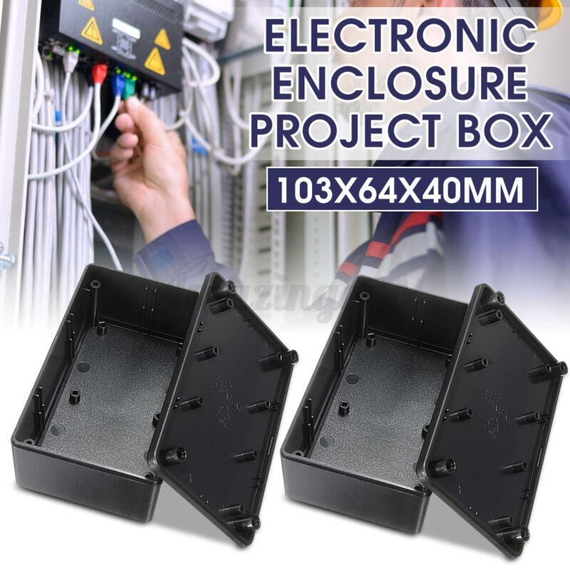 2x Plastic Electronics Enclosure Project Box Case 103x64x40mm DIY