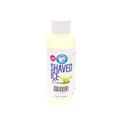 Daiquiri Snow Cone Or Hawaiian Shaved Ice Unsweetened Flavor Concentrate 4 Fl Oz
