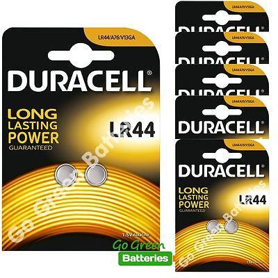 12 x Duracell LR44 1.5V Alkaline Button Cell Batteries LR 44 A76 AG13 357 hexbug
