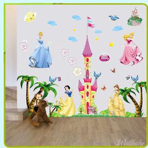Castello della principessa adesivo parete cameretta baby girl camera da letto ebay - Letto da principessa ...