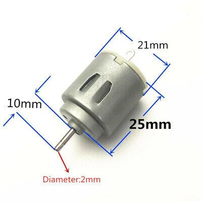 2pcs Miniature Small Electric Motor Brushed 1.5-4.5v Dc For Models Crafts Robots