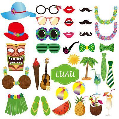 35 Fotorequisiten Fotoprops Urlaub Hawaii Tropical Sommer Party Fotoaccessoires (Urlaub Foto-requisiten)
