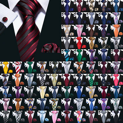 USA 189 Colors Mens Silk Tie Necktie Set Red Blue Black Grey Green Pink -