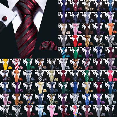 Gray Black Necktie (USA 189 Colors Mens Silk Tie Necktie Set Red Blue Black Grey Green Pink)