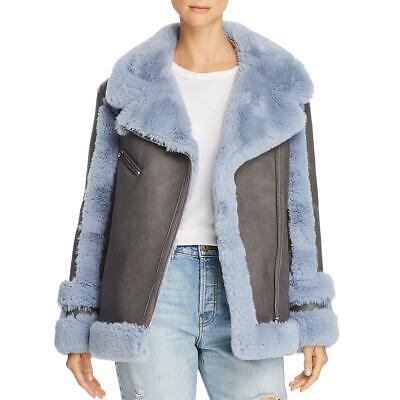 Heurueh Womens Bad to the Bone Faux-Fur Faux-Leather Moto Coat Jacket BHFO 5029
