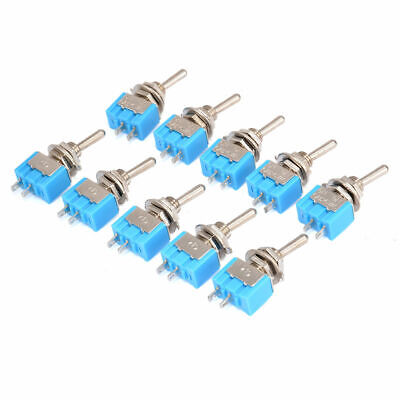 10 Pcs Mts-101 2 Pin Spst On-off 2 Position 6a 250v Ac Mini Toggle Switches Hot