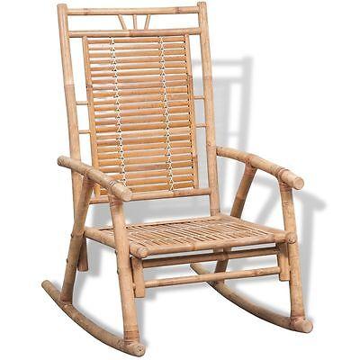 Möbel Schaukelstuhl (Schaukelstuhl Gartenstuhl Schaukelsessel Relax Schwingsessel Gartenmöbel Bambus)