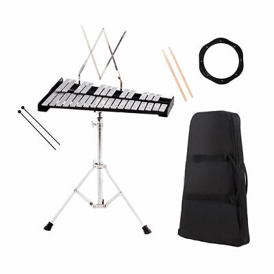 Percussion Kit - Percussion Glockenspiel Bell Kit 30 Notes w/ Practice Pad +Mallets+Sticks+Stand