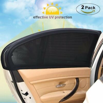 2x SONNENSCHUTZ Auto PKW universal Sonnenblende Seitenfenster UV-Schutz Rollo