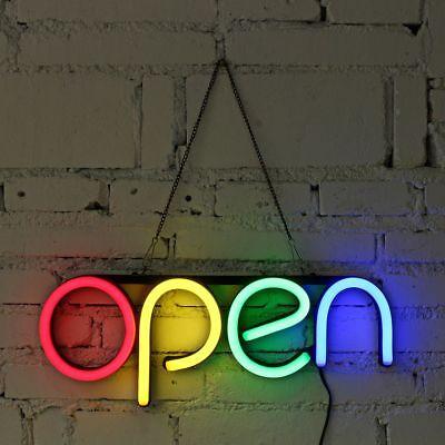 Sign Open Neon Bulb Led Light Handmade Commercial Lighting Business Shop Display