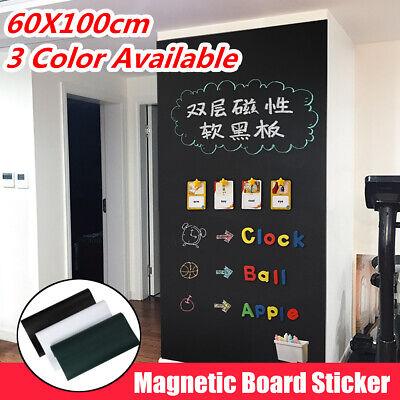 60x100cm Adhesive Magnet White Board Blackboard Sticker Diy Wall Decal