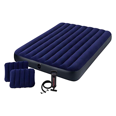 Intex 68765E Classic Downy Airbed Set with 2 Pillows and Dou