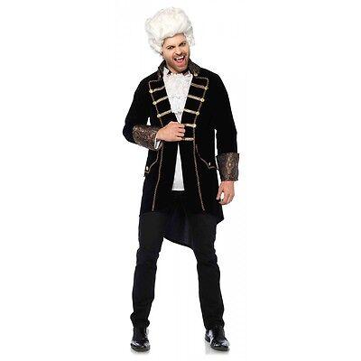 Vampire Costume Adult 18th C Baroque Lestat Masquerade Halloween Fancy Dress (Masquerade Costumes Men)