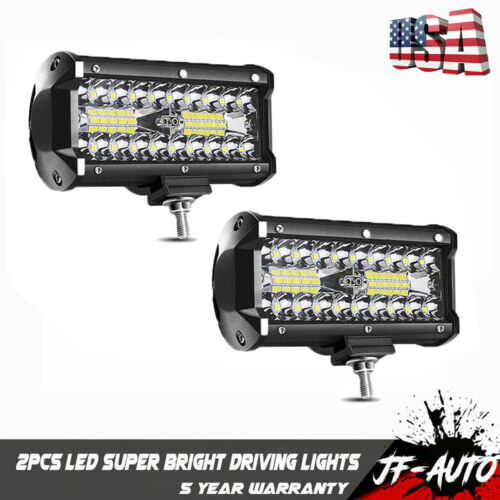"2x 6inch 7"" LED Light Bar Work Spot Flood Combo Beam 4WD CAR"