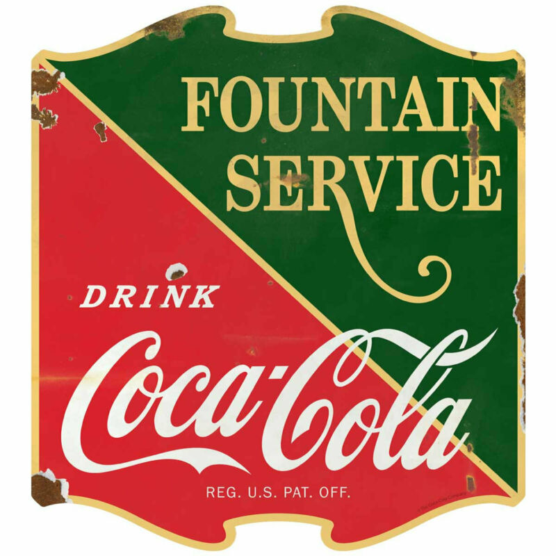 Coca-Cola 1930s Fountain Service Decal Peel & Stick Wall Graphic