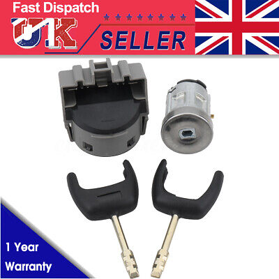Ignition Switch & Barrel Cyclinder Lock Cylinder 2 Key For Ford Transit MK7