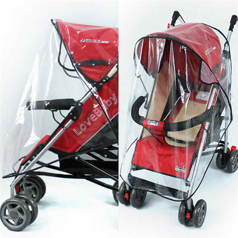 Baby Stroller Cover Transparent Waterproof Umbrella Stroller Wind Shield Cover