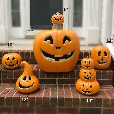 Halloween Pumpkin Jack O Lantern Waterproof Light Up Décor Indoor Outdoor
