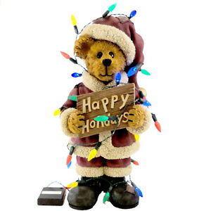 Boyds Bears Resin WENSEL TANGLETON MAKING SPIRITS 4016660 Christmas Santa New