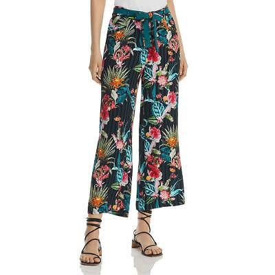 Basler Womens Floral Wide Leg Cropped Pants BHFO 5939