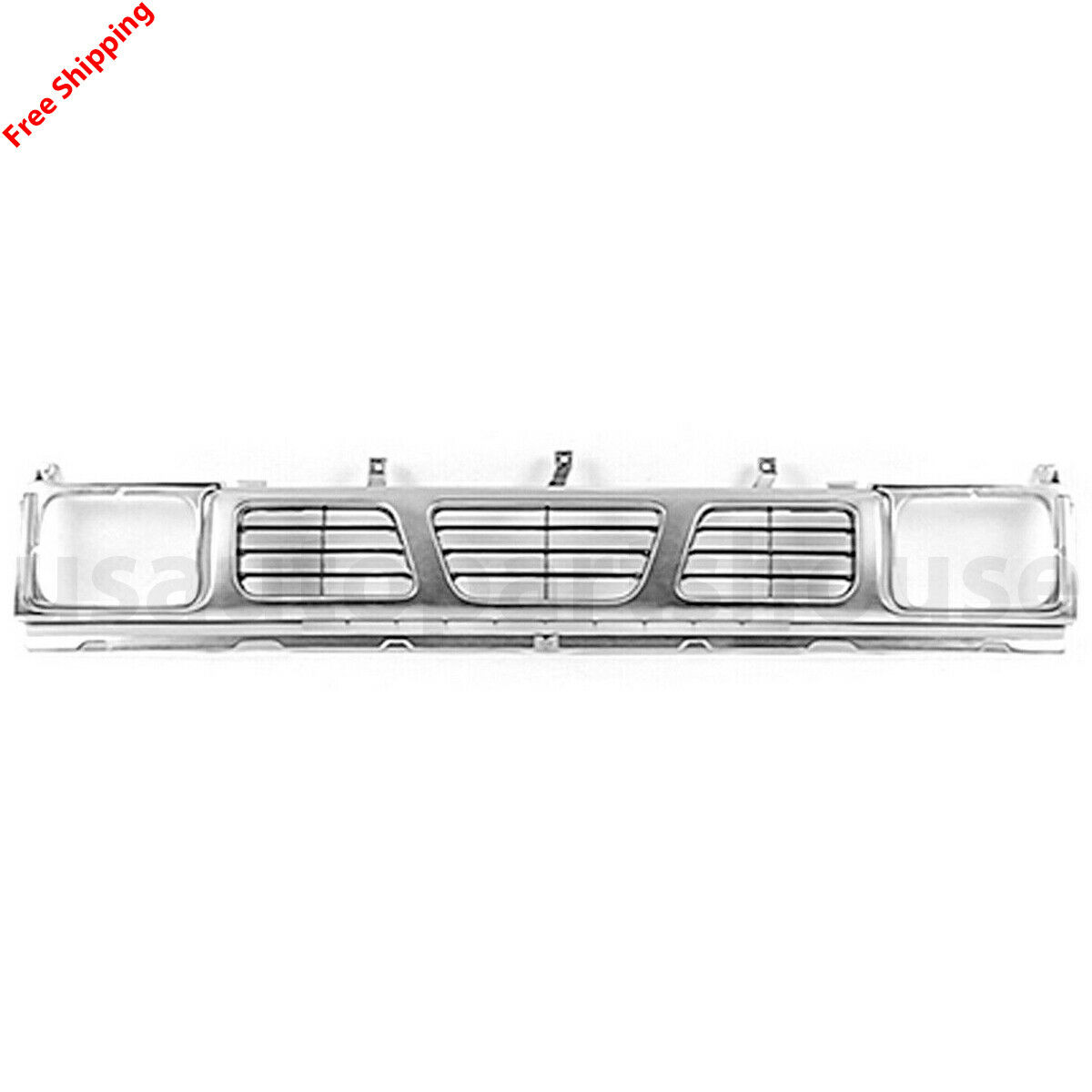 Pickup NI1200115 CPP Silver Front Grille Assembly for Nissan D21