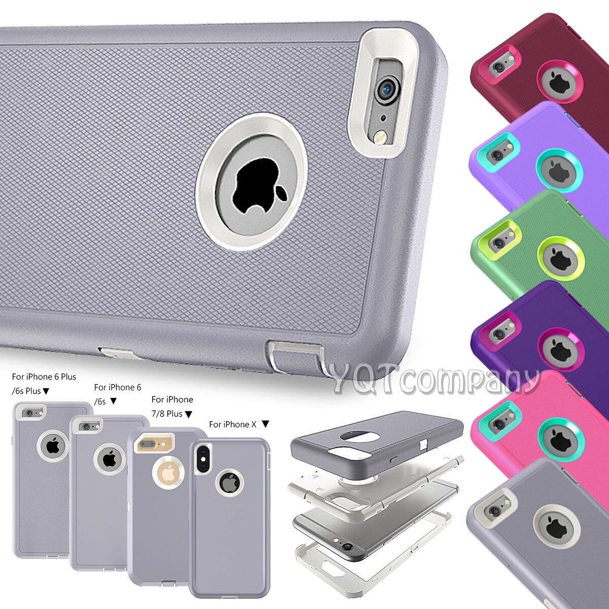 Protective Hybrid Shockproof Hard Case Cover For Apple iPhone XS Max 7 8 6S Plus
