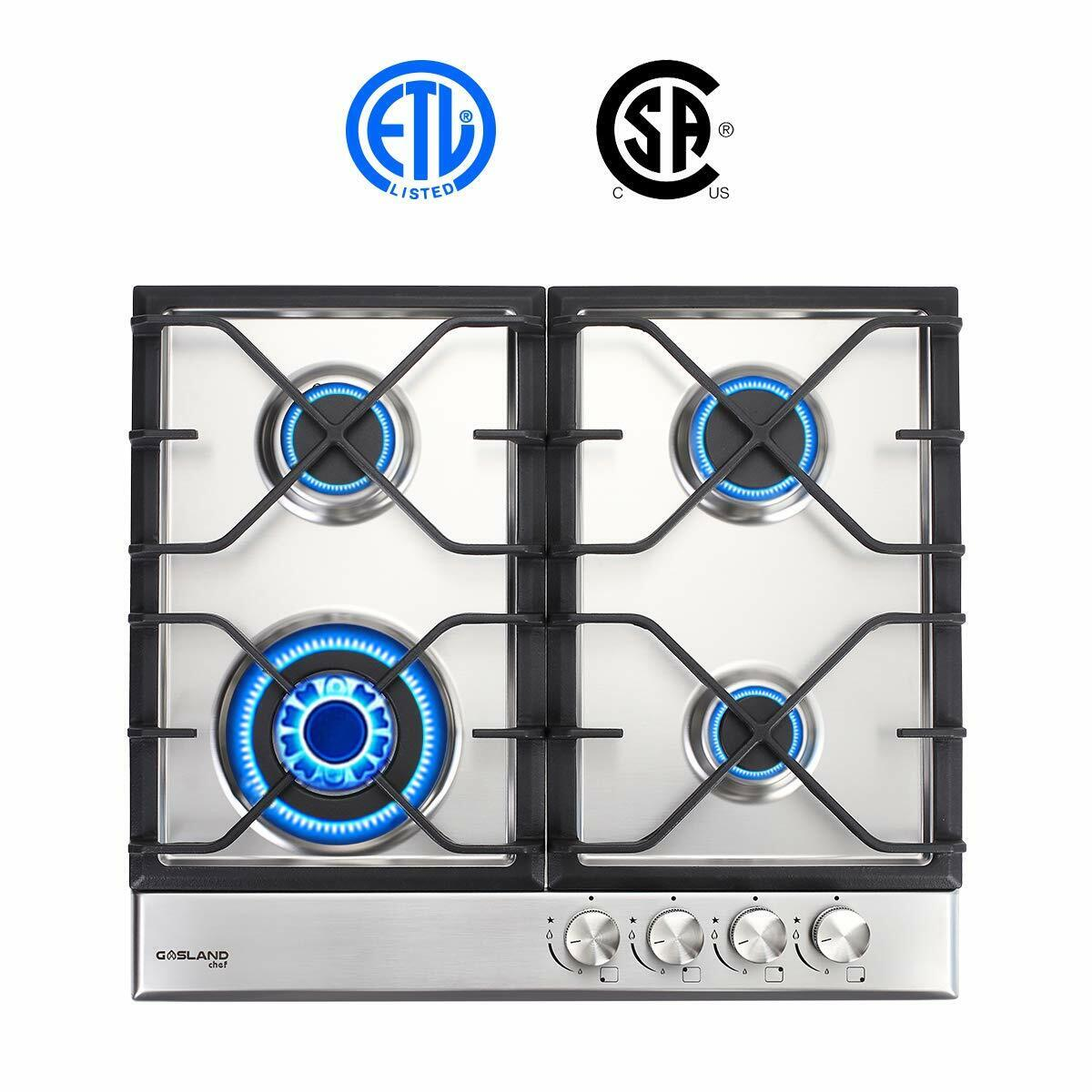 Gas Cooktop, Gasland chef GH60SSC 24'' Built-in Gas Stove To