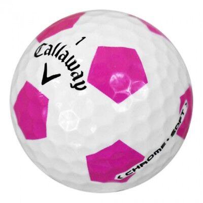 24 AAAA  Callaway Chrome Soft Limited Edition PINK Truvis Golf Balls ](Golf Balls Pink)