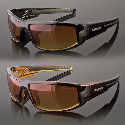 Hd  Sport Night Driving Sunglasses High Definition Vision Orange Wrap Glasses (High Definition Sunglasses)