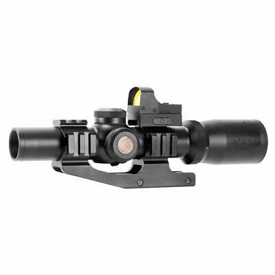 Aim Sports ACRFFR Tri-Illuminated Red Dot 1-4x24mm Obj 4.2 Eye Relief 3 MOA Blk