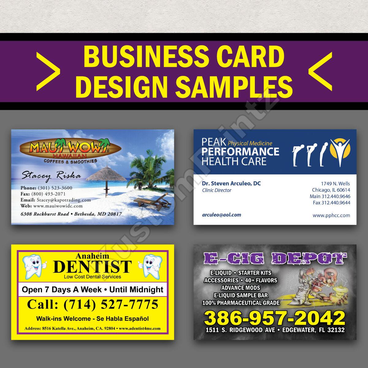 5000 Custom Full Color Business Cards 16Pt