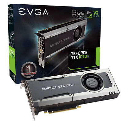 EVGA GeForce GTX 1070 Ti GAMING, 08G-P4-5670-KR, 8GB GDDR5